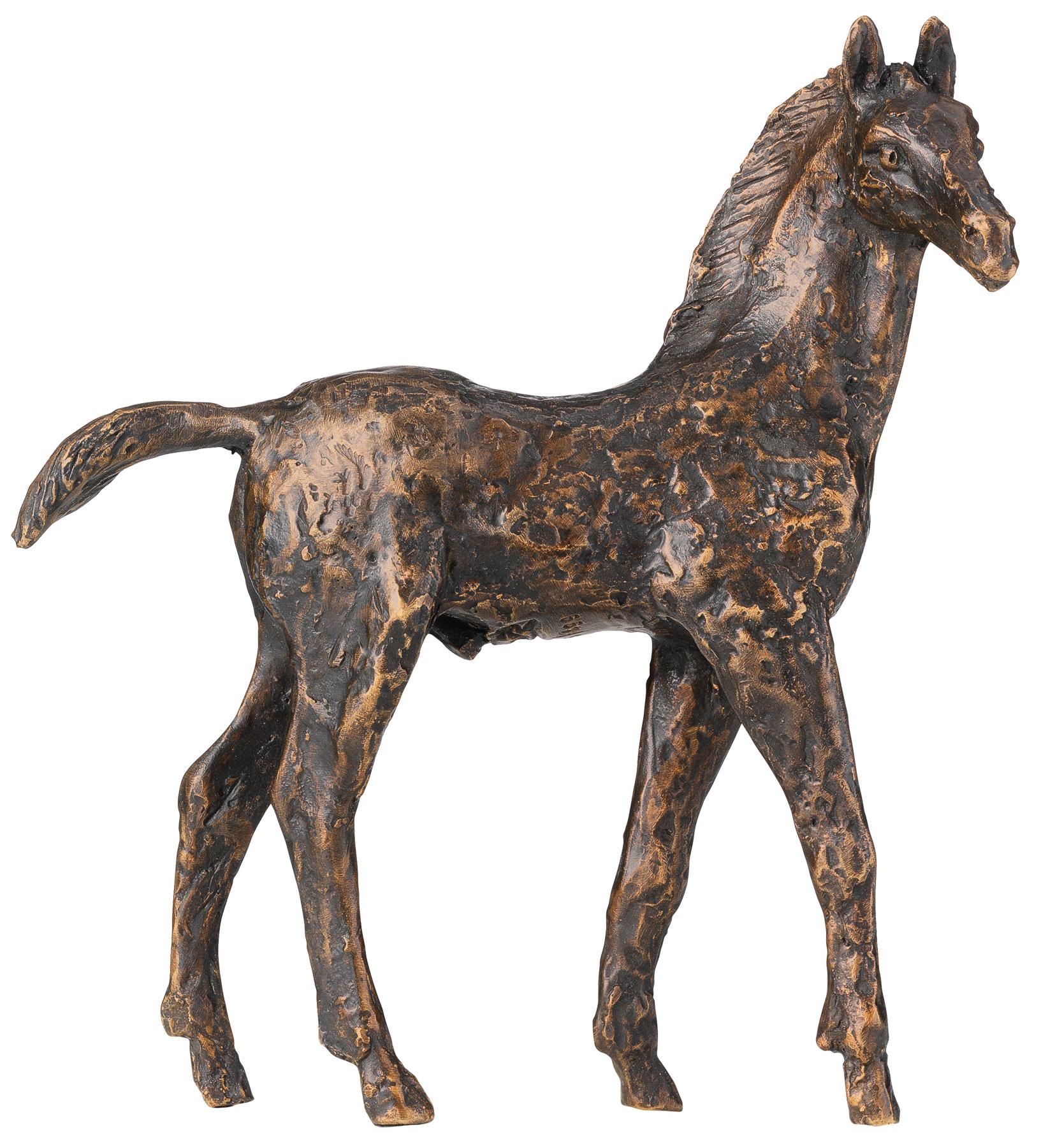 """Skulptur """"Fohlen"""", Bronze"""