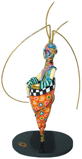 """Sternzeichen-Skulptur """"Krebs/Cancer"""" (22.6.-22.7.), Kunstmarmor handbemalt"""