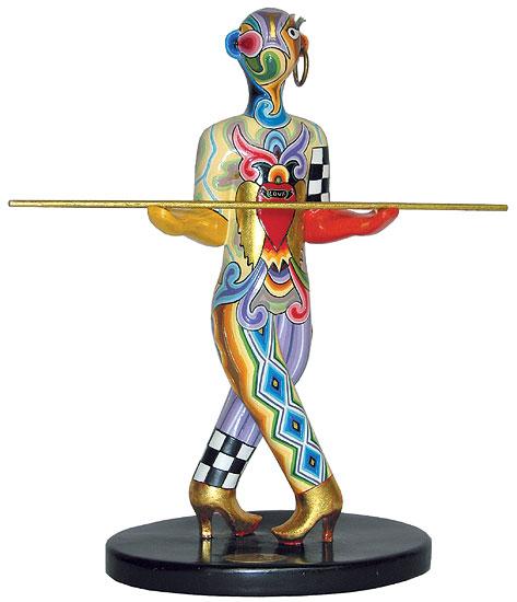 """Sternzeichen-Skulptur """"Waage/Libra"""" (24.9.-23.10.), Kunstmarmor handbemalt"""
