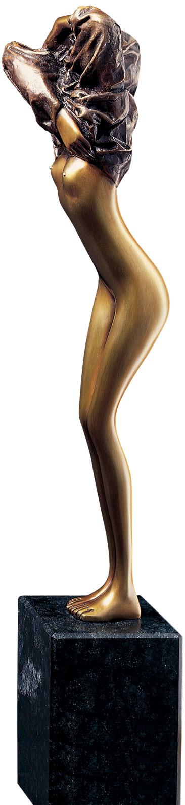 "Skulptur ""Venere assoluta"", Bronze auf Steinsockel"