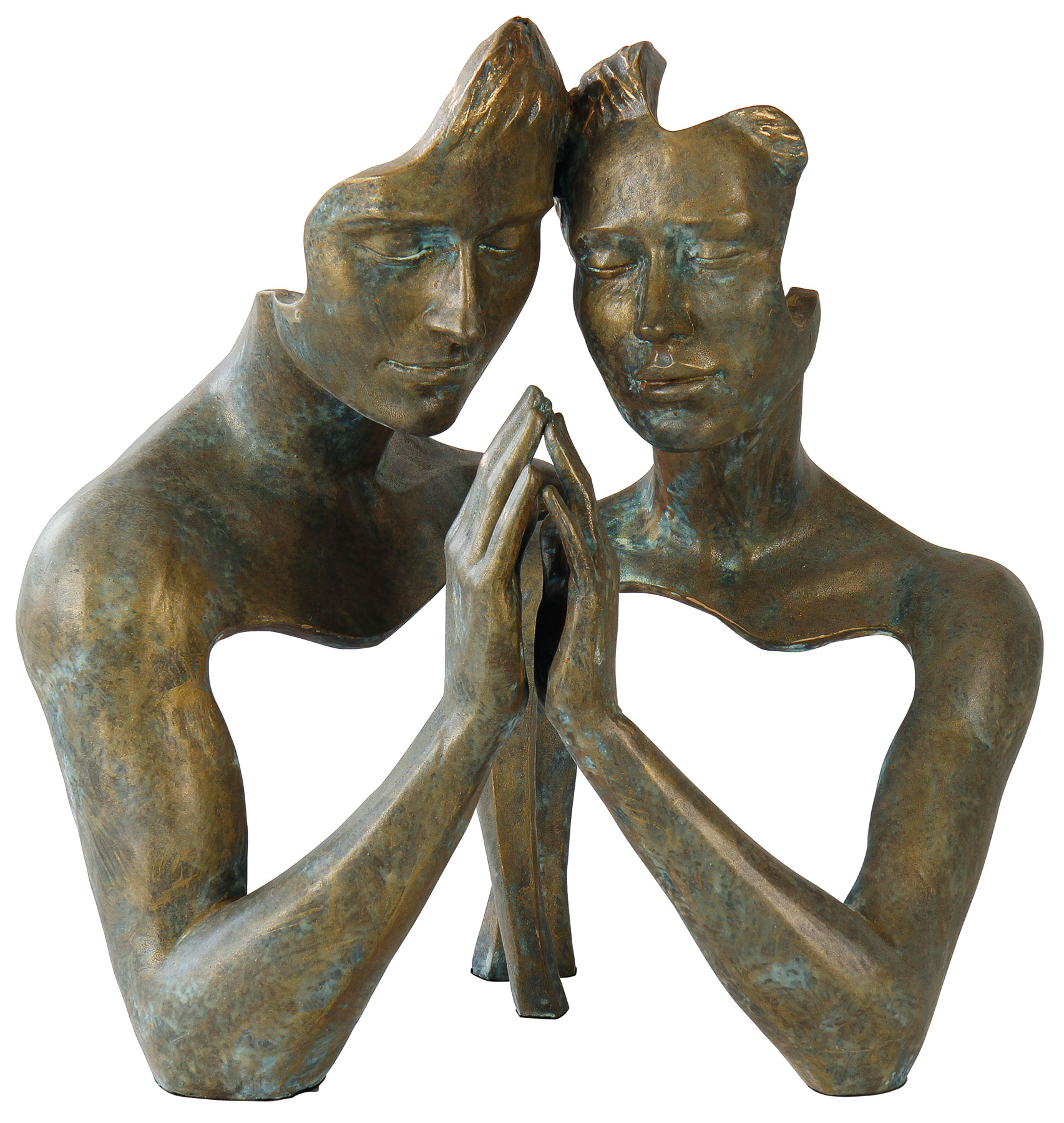 "Skulptur ""Tangle"", Kunstguss Steinoptik"