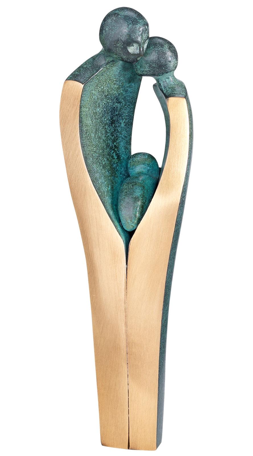 """Skulptur """"Junges Glück"""", Bronze"""