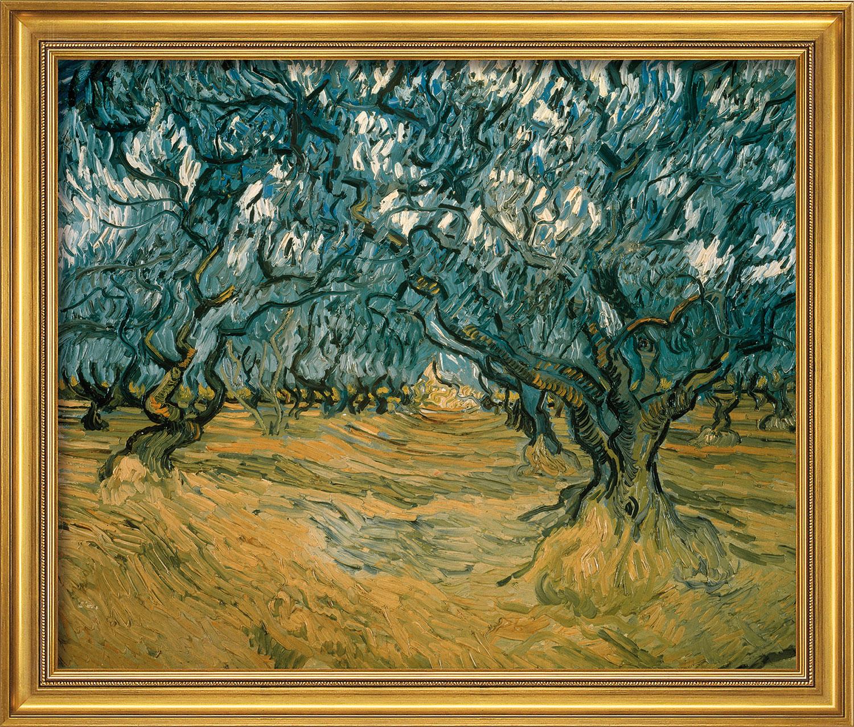 """Bild """"Olivenbäume"""" (1889), gerahmt"""