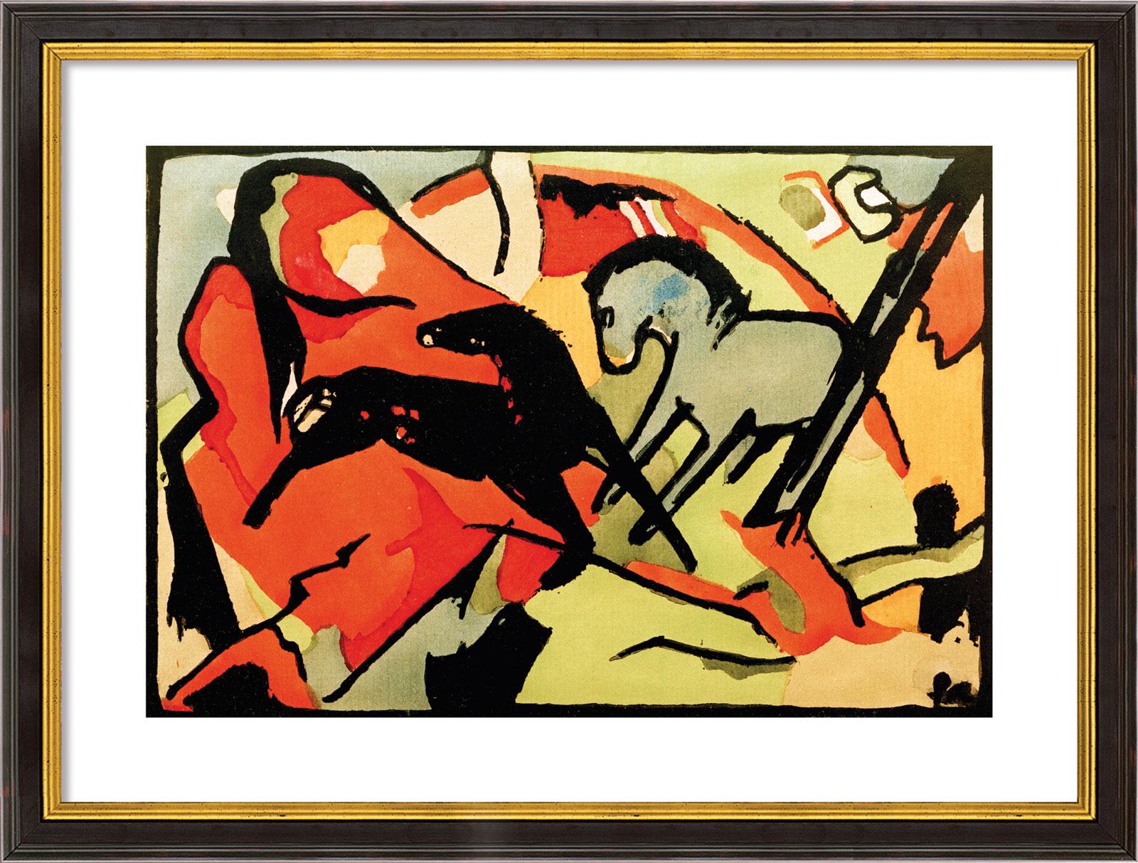 """Bild """"Zwei Pferde"""" (1911/12), gerahmt"""
