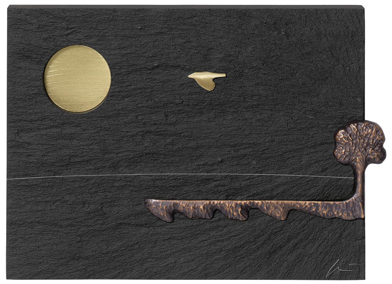 """Wandobjekt """"SOMMER - Der Baum, der aus dem Rahmen fällt"""" - aus """"Jahreszeiten-Zyklus"""""""
