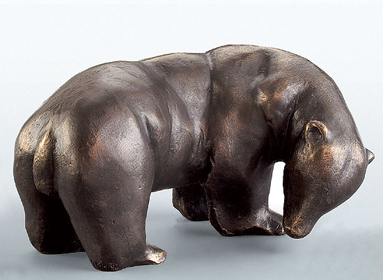 "Skulptur ""Eisbären-Mutter"", Bronze"
