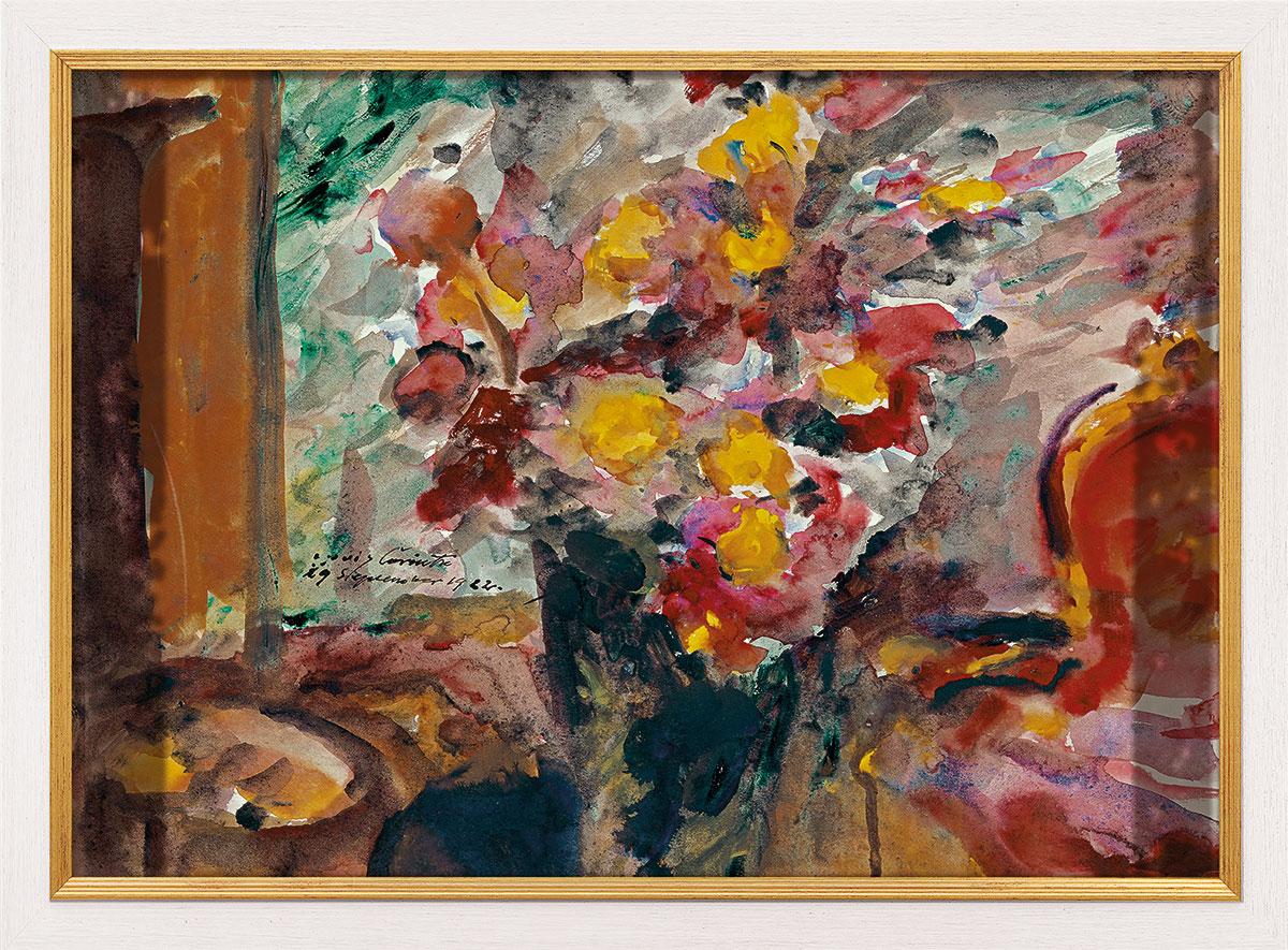 """Bild """"Blumenvase auf einem Tisch"""" (1922), gerahmt"""