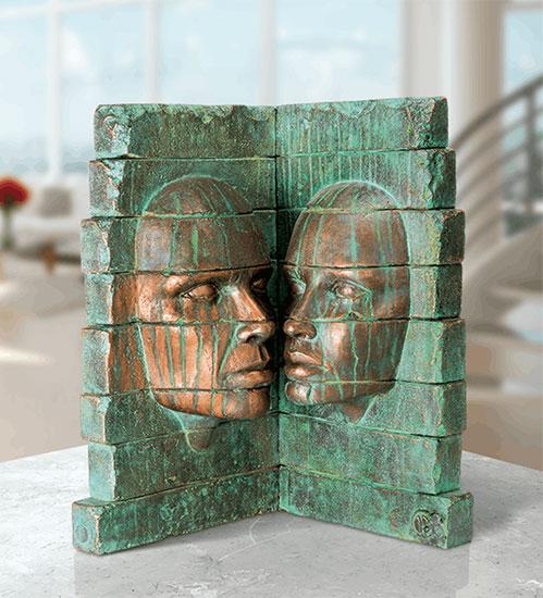 """Skulptur """"Ruine"""", Bronze"""