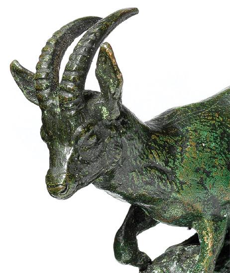 """Skulptur """"Äthiopische Gazelle"""" (1837), Bronze"""