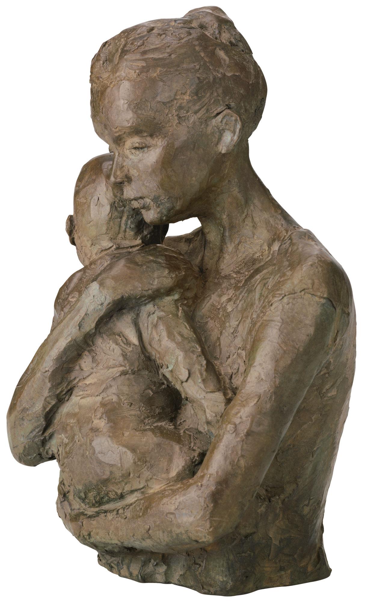 """Skulptur """"Geborgenheit"""" (Version ohne Sockel), Bronze"""