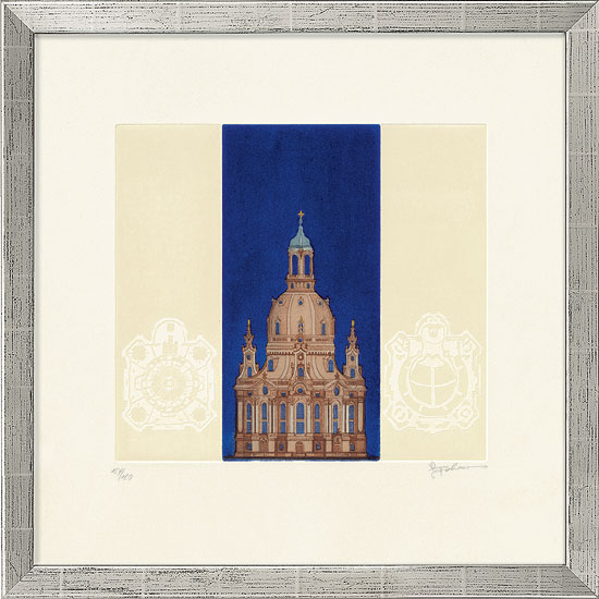 "Bild ""Frauenkirche"", gerahmt"