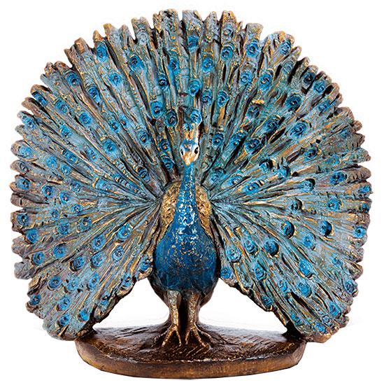"""Gartenskulptur """"Pfau"""", Bronze"""