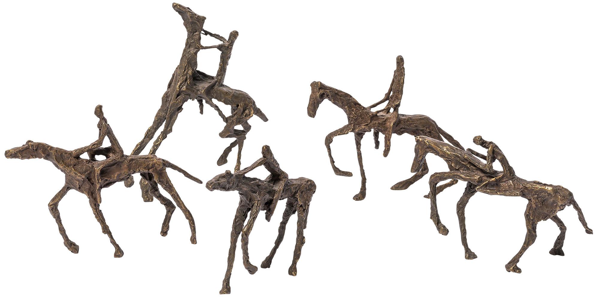 """5 Reiter-Skulpturen """"To Ride"""" im Set, Bronze"""