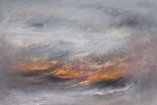 "Bild ""La mer sauvage"" (2010), auf Keilrahmen"