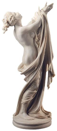"""Statuette """"Göttin Flora"""" (mit Vaseneinsatz), Version in Kunstmarmor"""