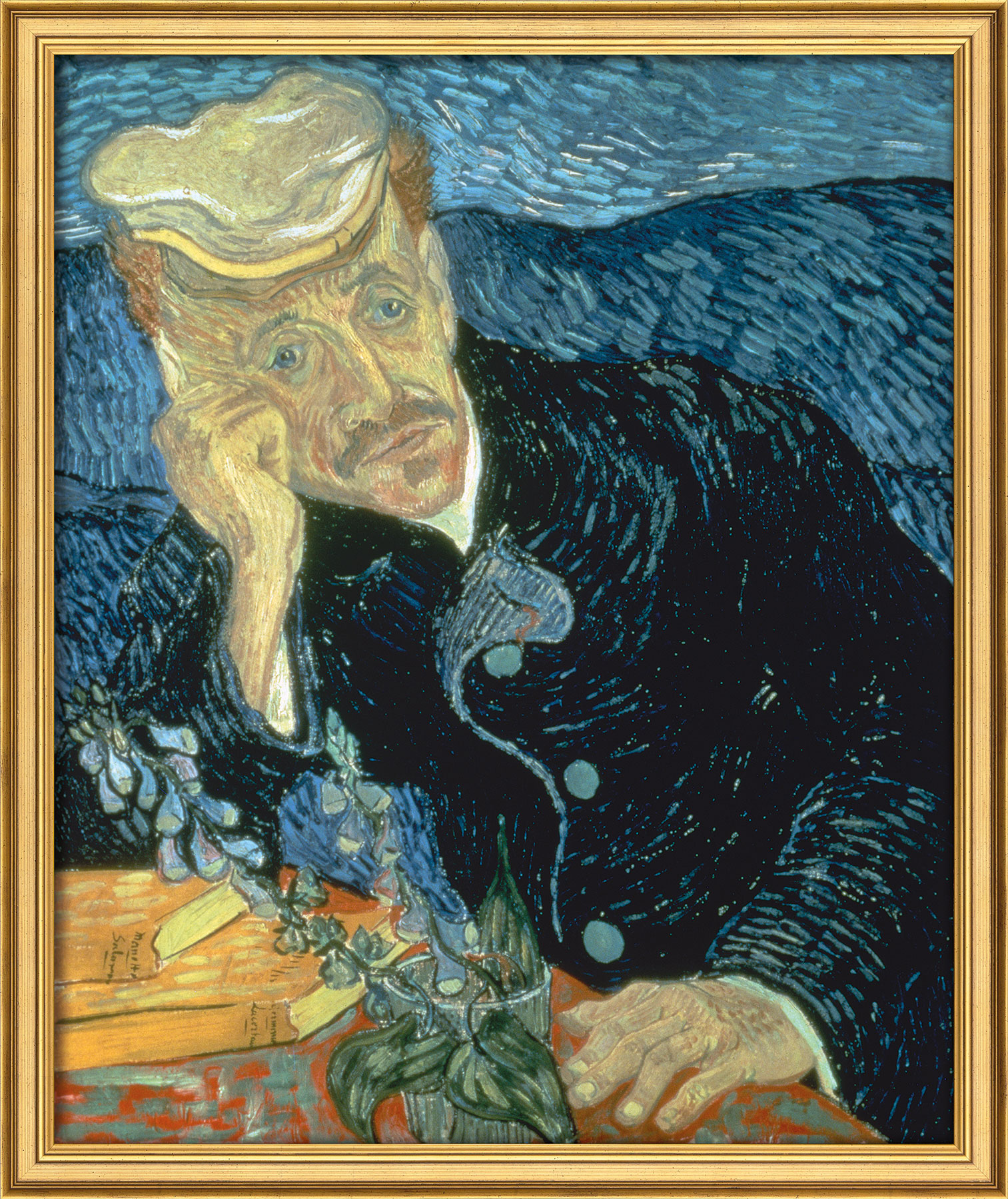 "Bild ""Bildnis des Dr. Gachet"" (1890), gerahmt"
