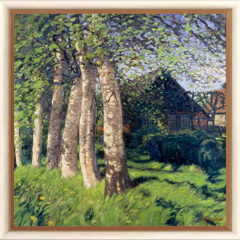 """Bild """"Frühling in Worpswede"""" (1900), gerahmt"""