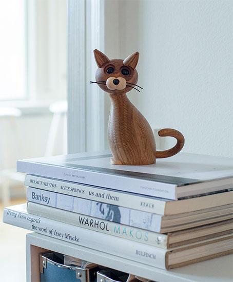 """Holzfigur """"Lucky the Cat"""" - Design Chresten Sommer"""