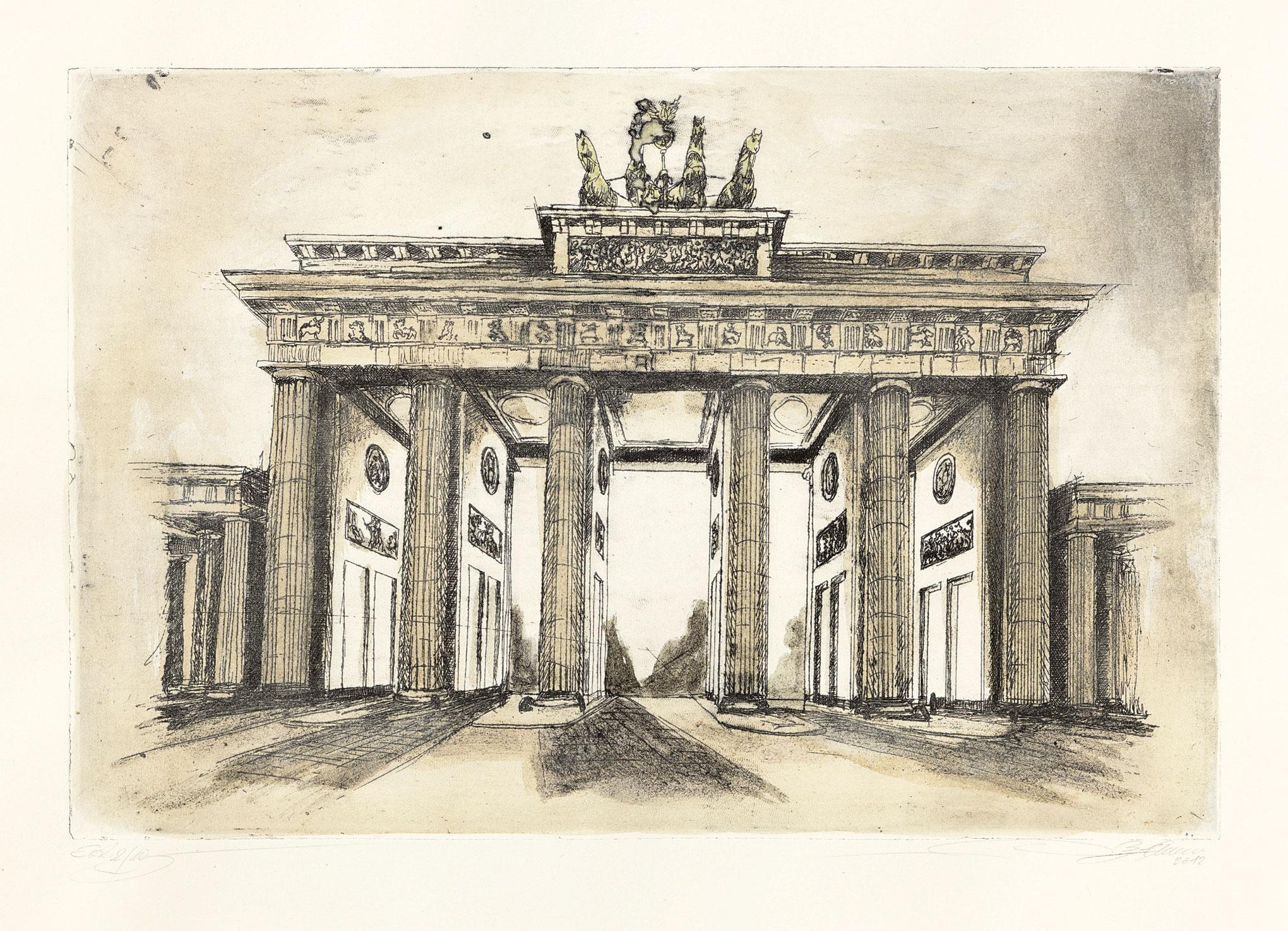 """Bild """"Brandenburger Tor"""", ungerahmt"""
