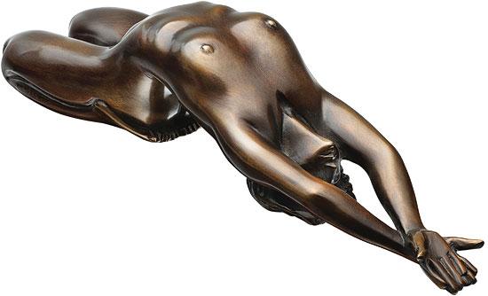"""Skulptur """"Liegender Akt"""", Version in Bronze"""