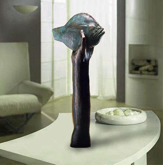 """Skulptur """"Die Butthand"""", Bronze"""