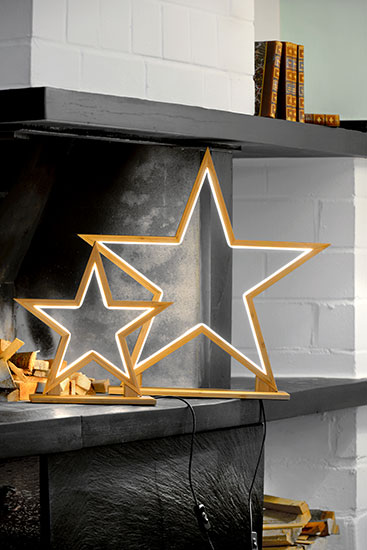 """LED-Lichtobjekt """"Stern"""" (groß, Ø 53 cm), Version Bambus"""