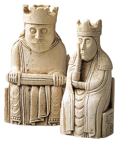 "Schachfiguren ""König + Königin"""