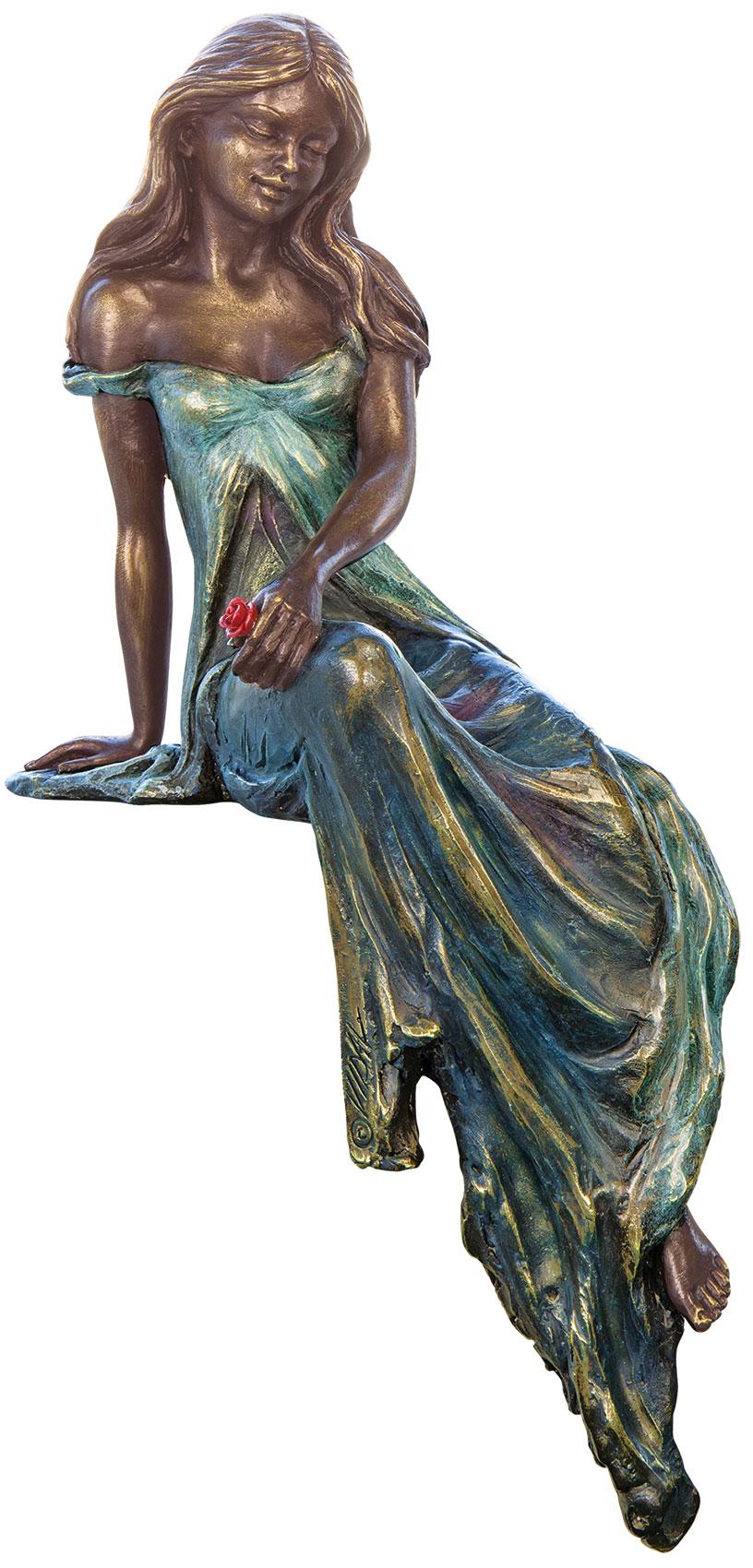 """Skulptur """"Muse"""", Kunstbronze"""