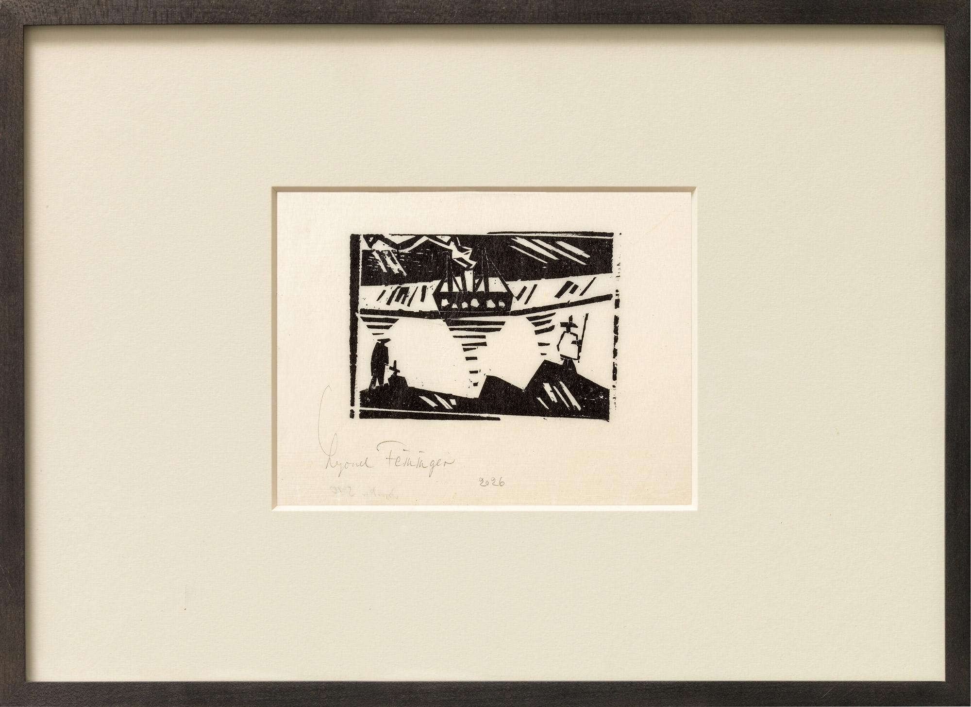 """Bild """"Angler and Steamer"""" (1920)"""