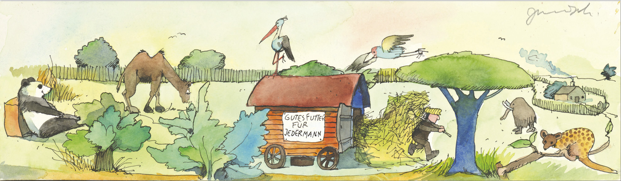 """Bild """"Gutes Futter für jedermann"""" (2000) (Unikat)"""
