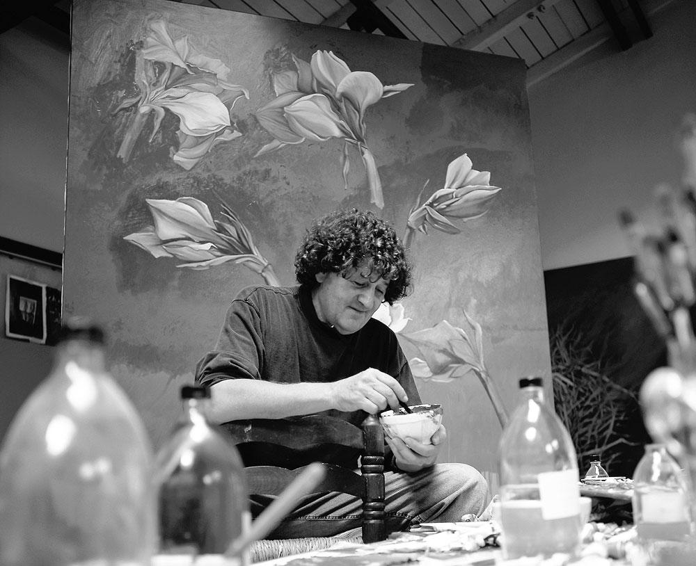 Der Künstler Bruno Bruni in Aktion