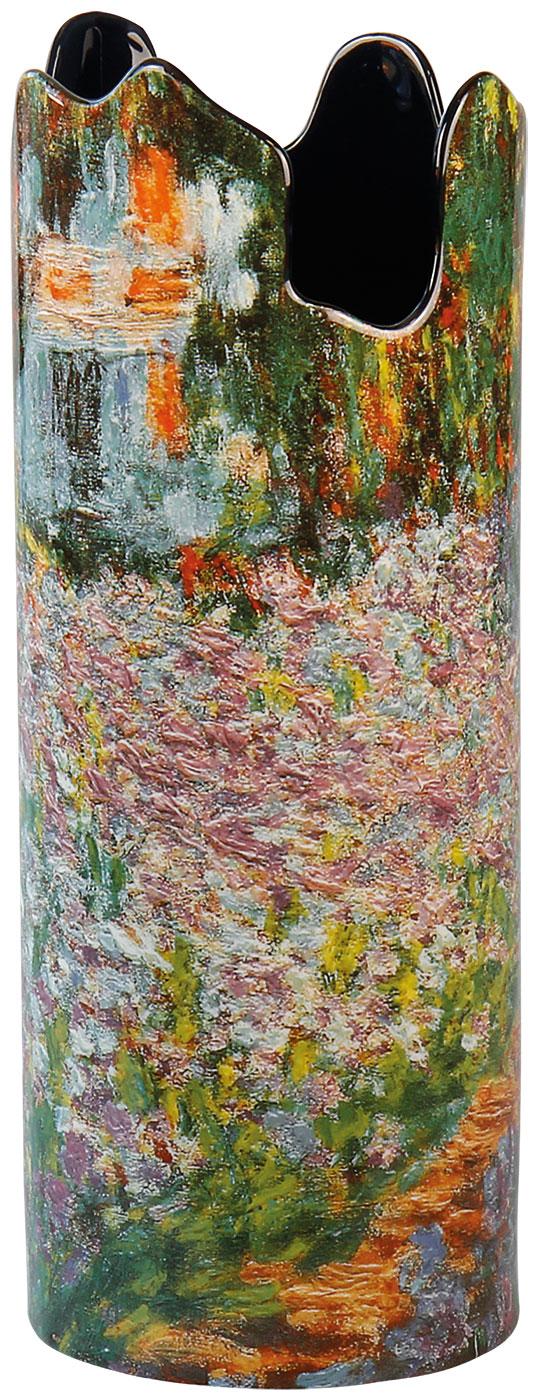 """Porzellanvase """"Irisbeet in Monets Garten"""""""