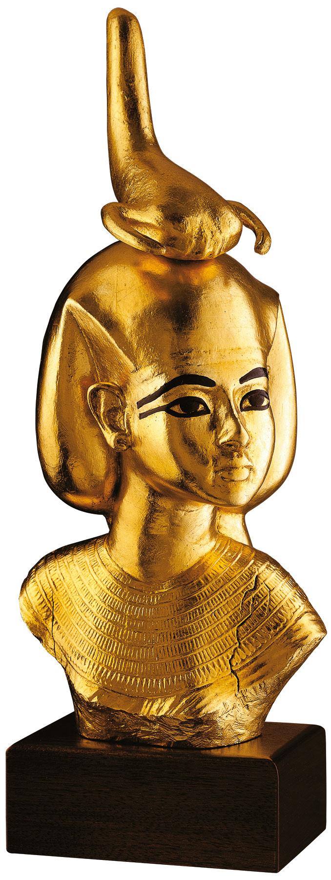 Büste der Schutzgöttin Selket, vergoldet
