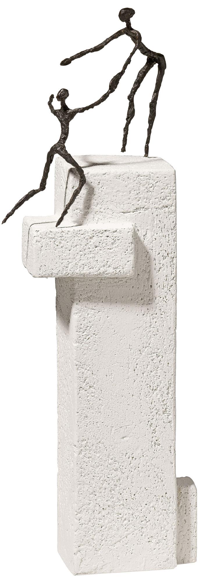 """Skulptur """"Als Partner weiterkommen"""", Bronze auf Steinguss"""