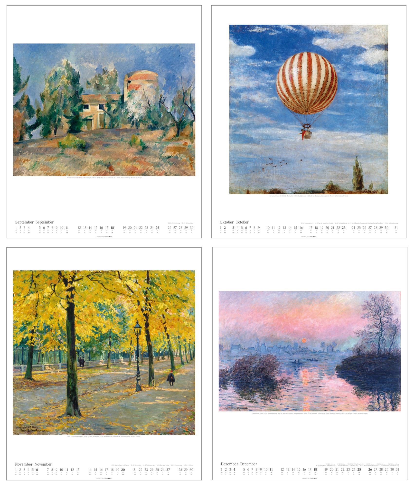 "Künstlerkalender ""Impressionismus"" 2022"