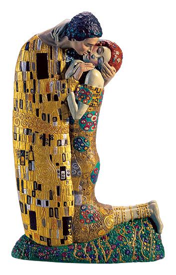 """Skulptur """"Der Kuss"""" (19 cm) - nach Gustav Klimt"""