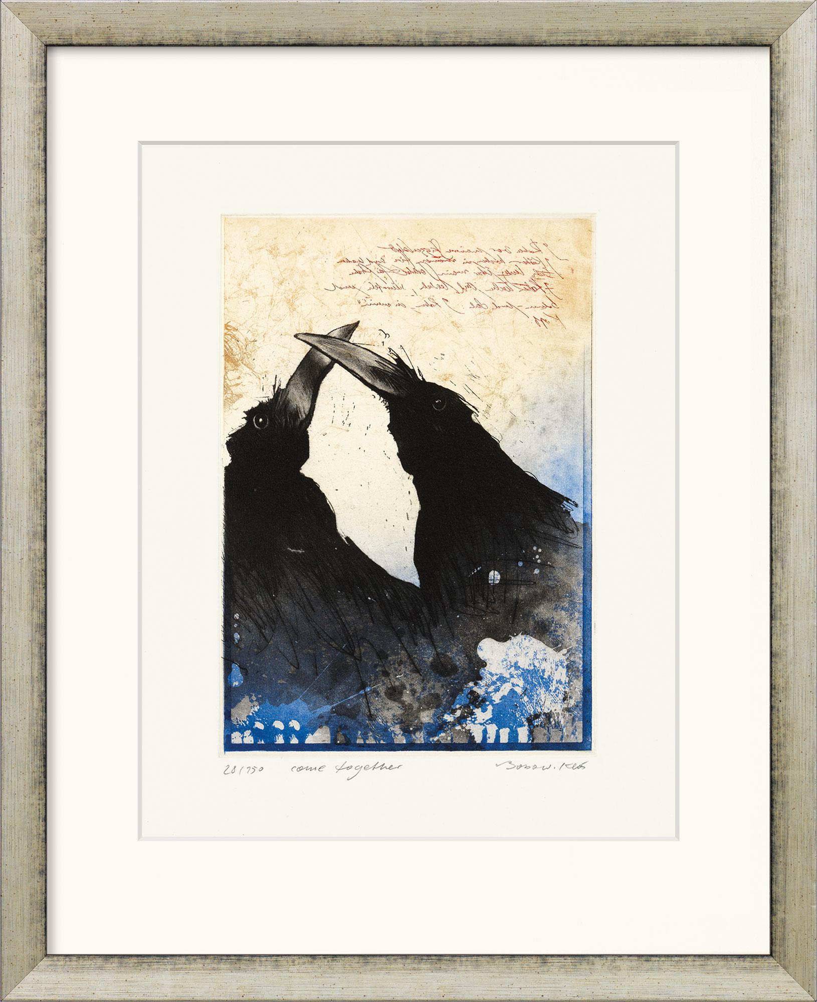 """Bild """"come together"""" (2010), gerahmt"""