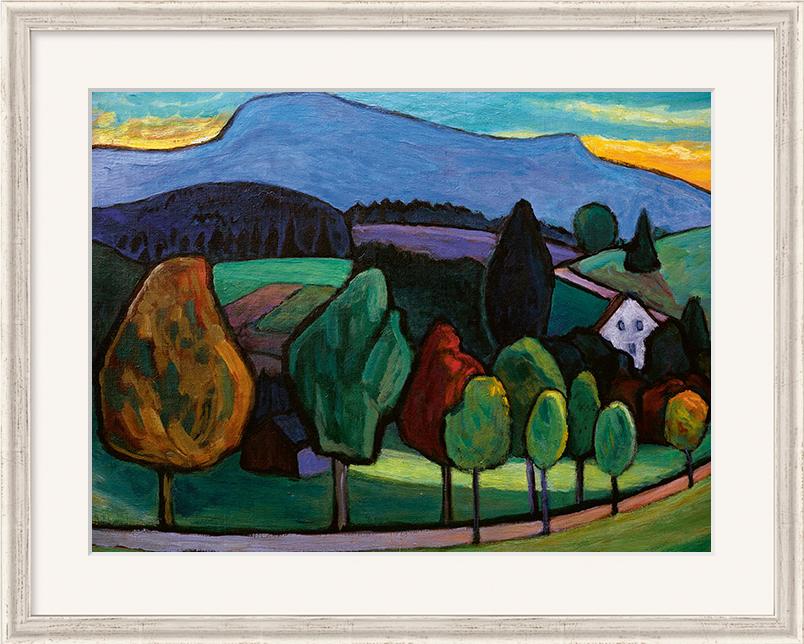 "Bild ""Der blaue Berg"" (1952), gerahmt"