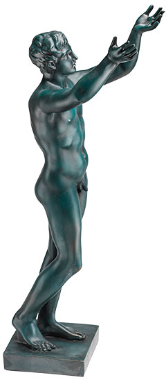 "Statue ""Betender Ephebe"" (Reduktion), Version in Kunstguss"