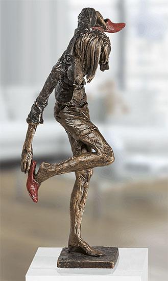 """Skulptur """"Bürofrau-Balance"""", Bronze"""