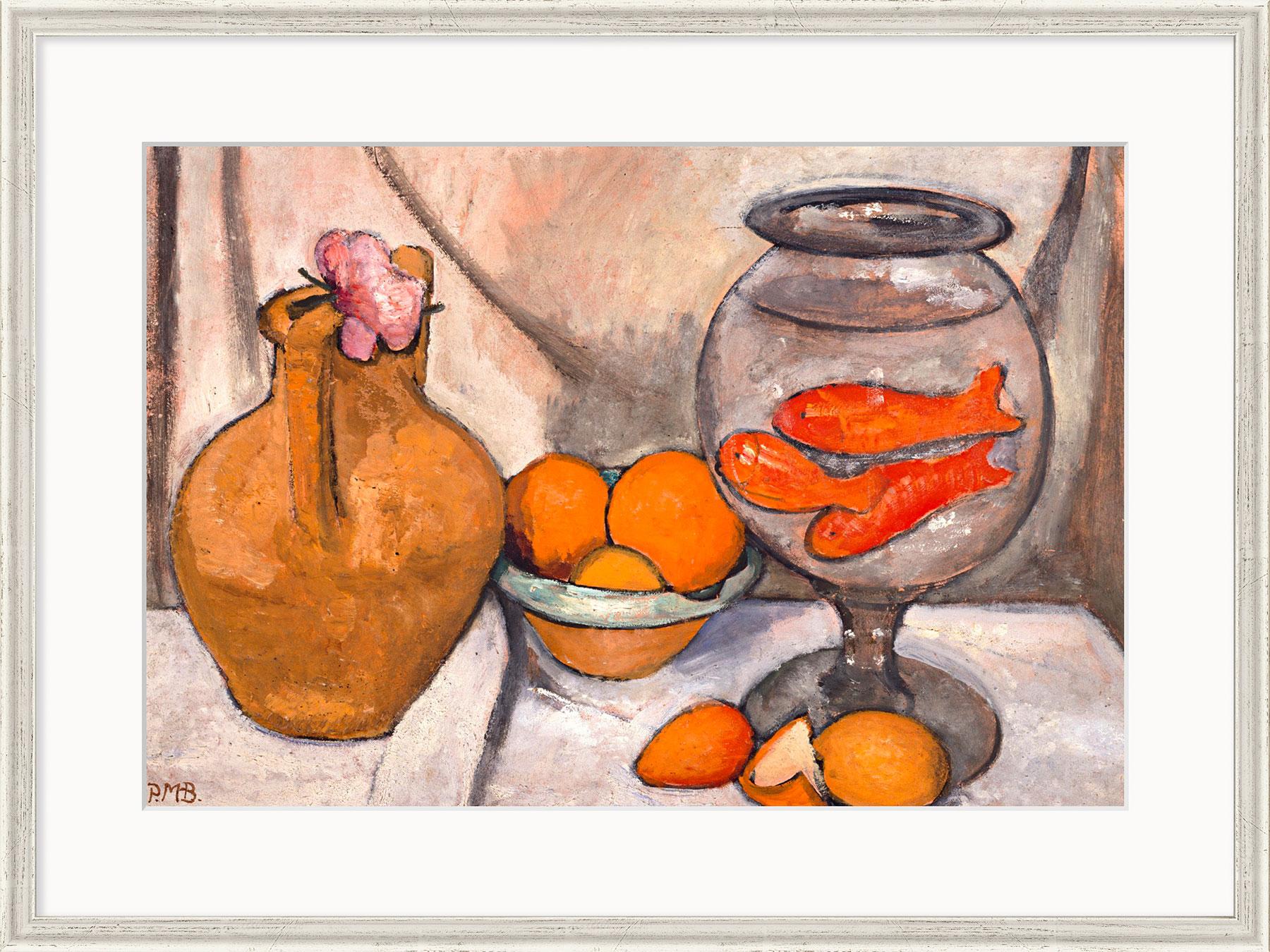 """Bild """"Stillleben mit Goldfischglas"""" (1906), gerahmt"""