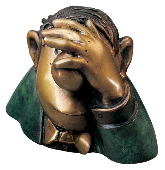 "Skulptur ""Der Optimist"", Version in Bronze"