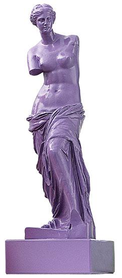 """Skulptur """"Venus von Milo - Flieder"""" (Reduktion, Höhe 32 cm), Kunstmarmor"""