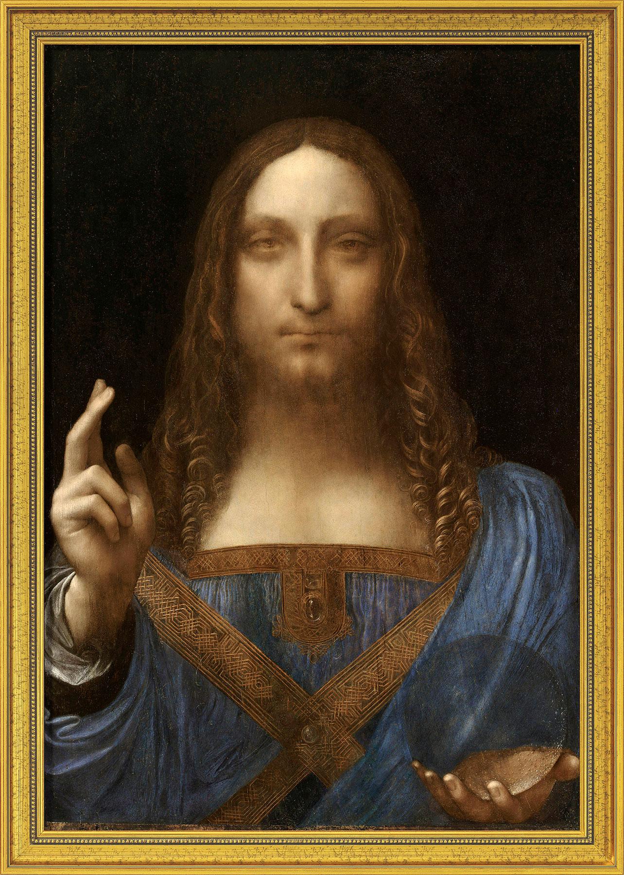 "Bild ""Salvator Mundi"" (um 1500), gerahmt"