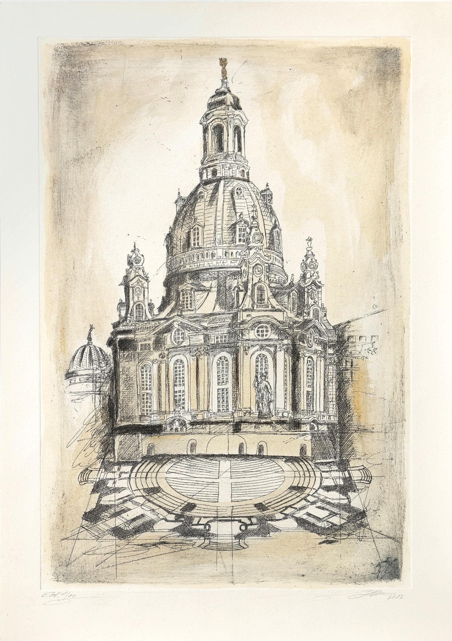 """Bild """"Dresdner Frauenkirche"""", ungerahmt"""