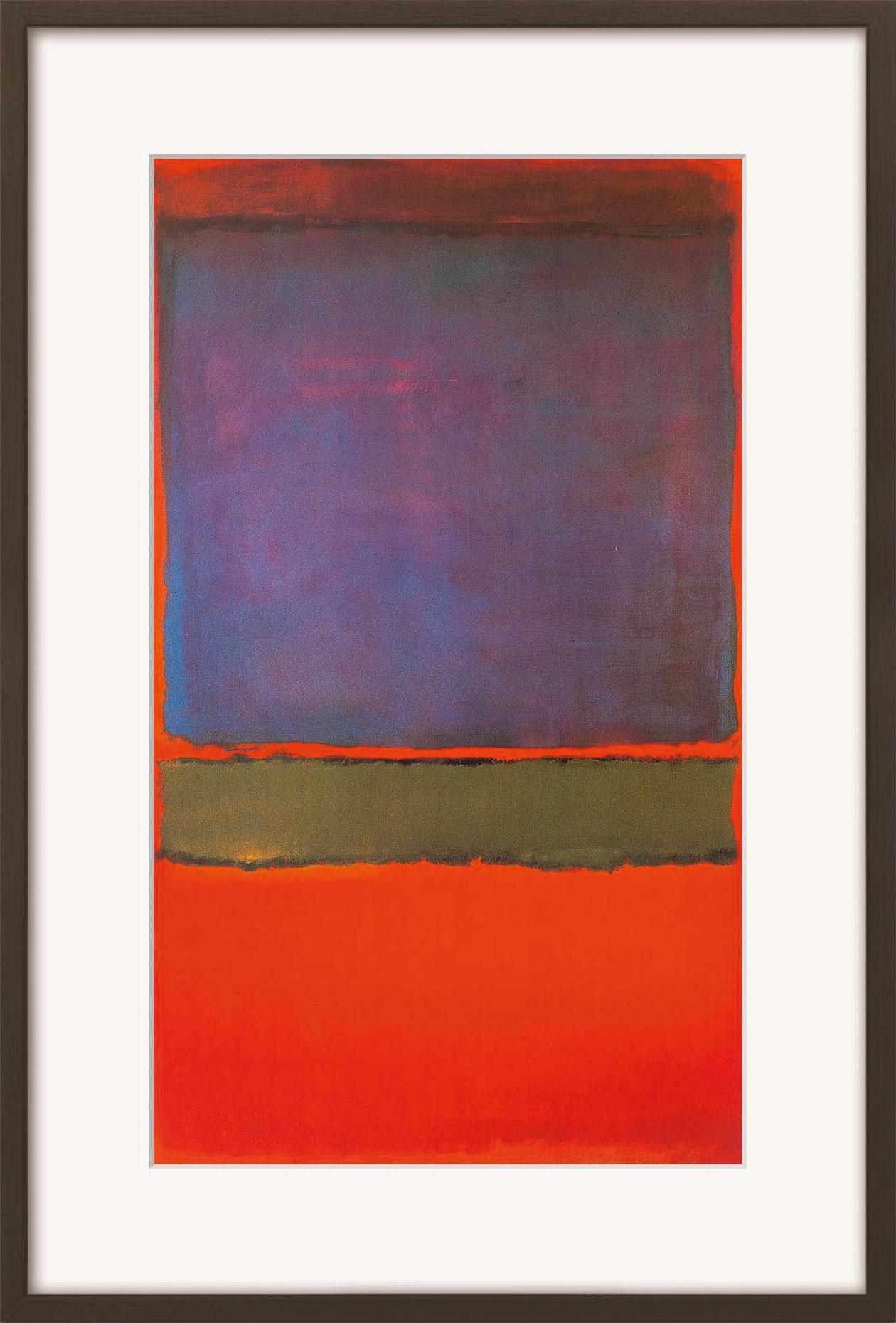 "Bild ""No. 6 (Violet, Green & Red)"" (1951), gerahmt"