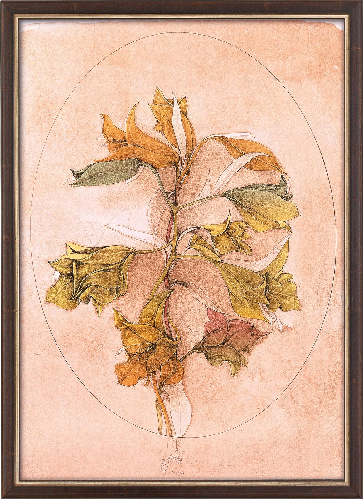 """Bild """"A floral fantasy"""" (1988), gerahmt"""