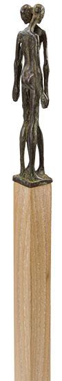 """Skulptur """"Verbundenheit"""", Bronze auf Holzstele"""