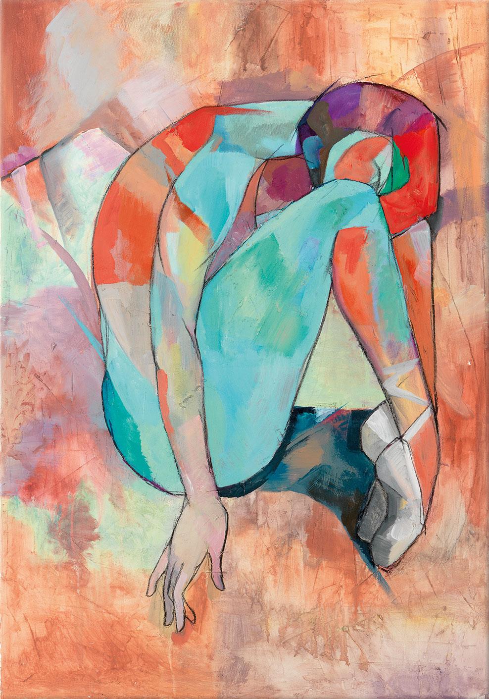 "Bild ""Ballerina"", auf Keilrahmen"