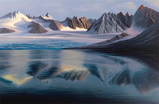 """Bild """"Gletschersee"""" (2012), auf Keilrahmen"""